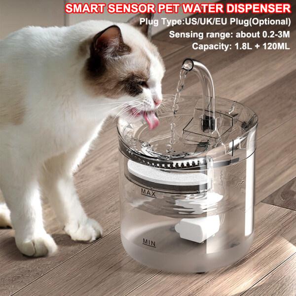 Bình Đựng Nước Cho Thú Cưng Pet Meow Go 1,8 L Cảm Biến Thông Minh, Bình Nước Cho Thú Cưng Chó Con Mèo Đài Phun Nước Lọc Cho Mèo Máy Uống Nước Cho Thú Cưng Tự Động Pet Nguồn Cung Cấp