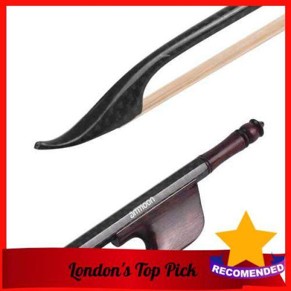 [ London ] ammoon Baroque Style 4/4 Violin Fiddle Bow Carbon Fiber Round Stick Snakewood Frog White Horsehair Well Balanced Malaysia