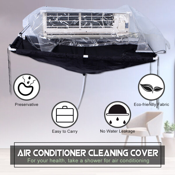 Air Conditioner Wall Mounted Cleaning Cover Hanging Protector with Tube & Hook