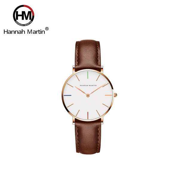 Hannah Martin Hue Brown Womens Leather Quartz Watch Malaysia
