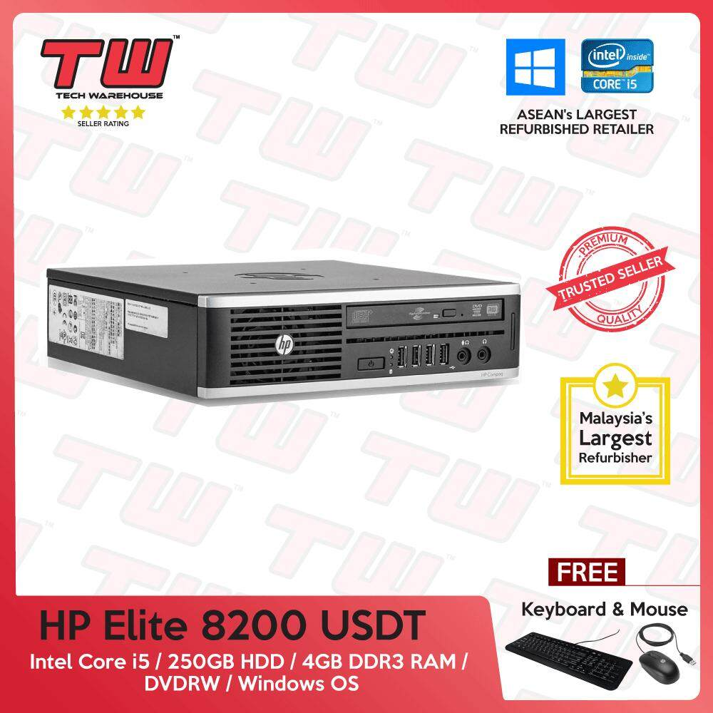 Hp Elite 8200 Core I5 2nd Generation / 4gb Ram / 250gb Hdd / Windows Os (usdt) Desktop Pc / 3 Months Warranty (factory Refurbished) (special Offer) By Tech Warehouse.