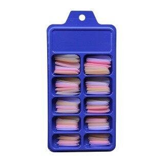 ALNECE Cái bộ 100 Cái Đầu Móng Tay Giả Mờ Cho Nữ Diễn Viên Ba Lê Phủ Kín Màu Kẹo Acrylic, Làm Móng Tay Để Nối Móng Giả Làm Móng Nghệ Thuật Tự Làm thumbnail