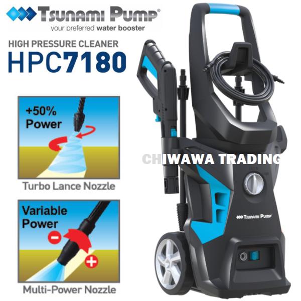 【JAPAN TECHNOLOGY】 TSUNAMI HPC7180 2200W 170 Bar High Pressure Cleaner Water Pump Water Jet Waterjet ( 1 Year Warranty )