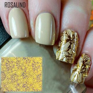 Đề Can Dán Móng Tay Nghệ Thuật Rosalind, Đề Can Hoa 3D Nở Hoa Nổi Rỗng, Trang Trí Móng Tay thumbnail