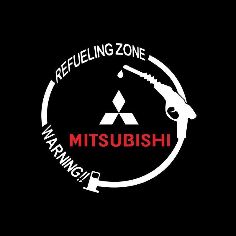 1 Miếng Dán Trang Trí Bình Nhiên Liệu Huy Hiệu Xe Hơi Chống Nước Cho Mitsubishi ASX Lancer Pajero Outlander L200 EVO Lancer EX Pajero