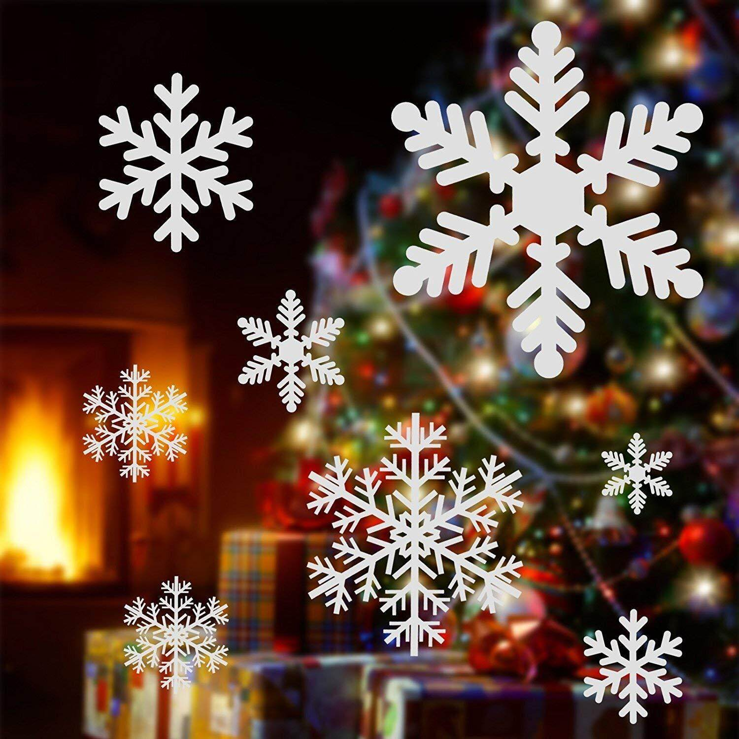 Snowflake Window Clings Decals Christmas Glass Static Stickers - for Holiday Winter Decoration Supplies
