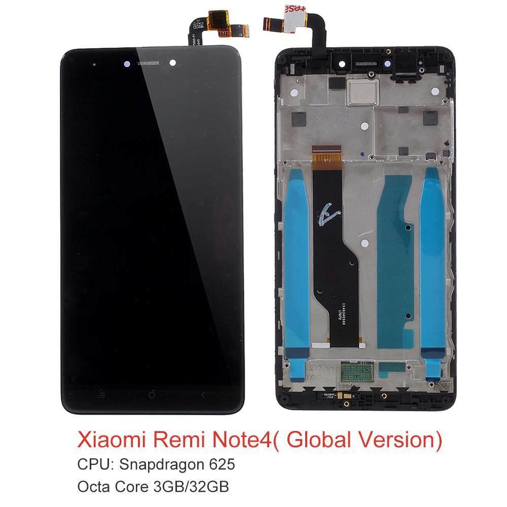 Untuk Xiaomi Redmi Note 4X (Qualcomm 625 Chipset Versi) Layar LCD dan Digitizer + Kerangka Rakitan Bagian