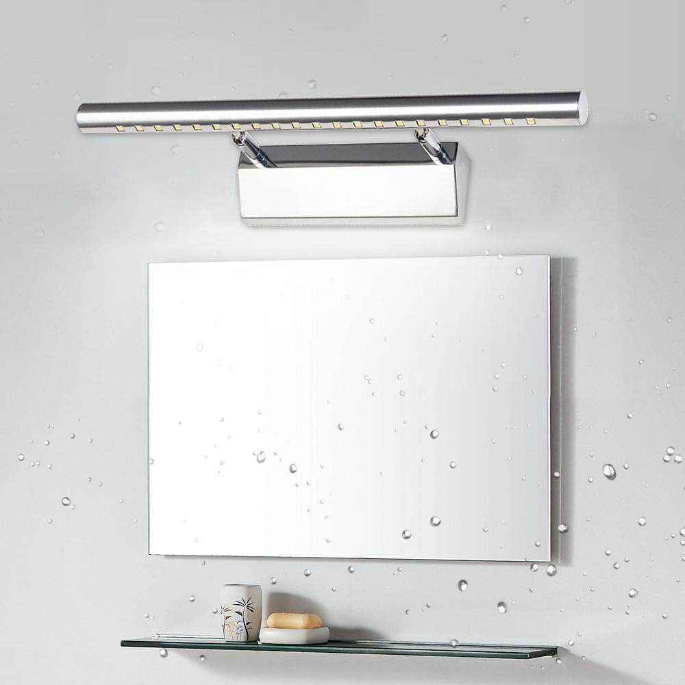 Lights Switch Wall LED Front Light Stainless Steel Mirror Light Bathroom Mirror Lamp Over Mirror Cabinet
