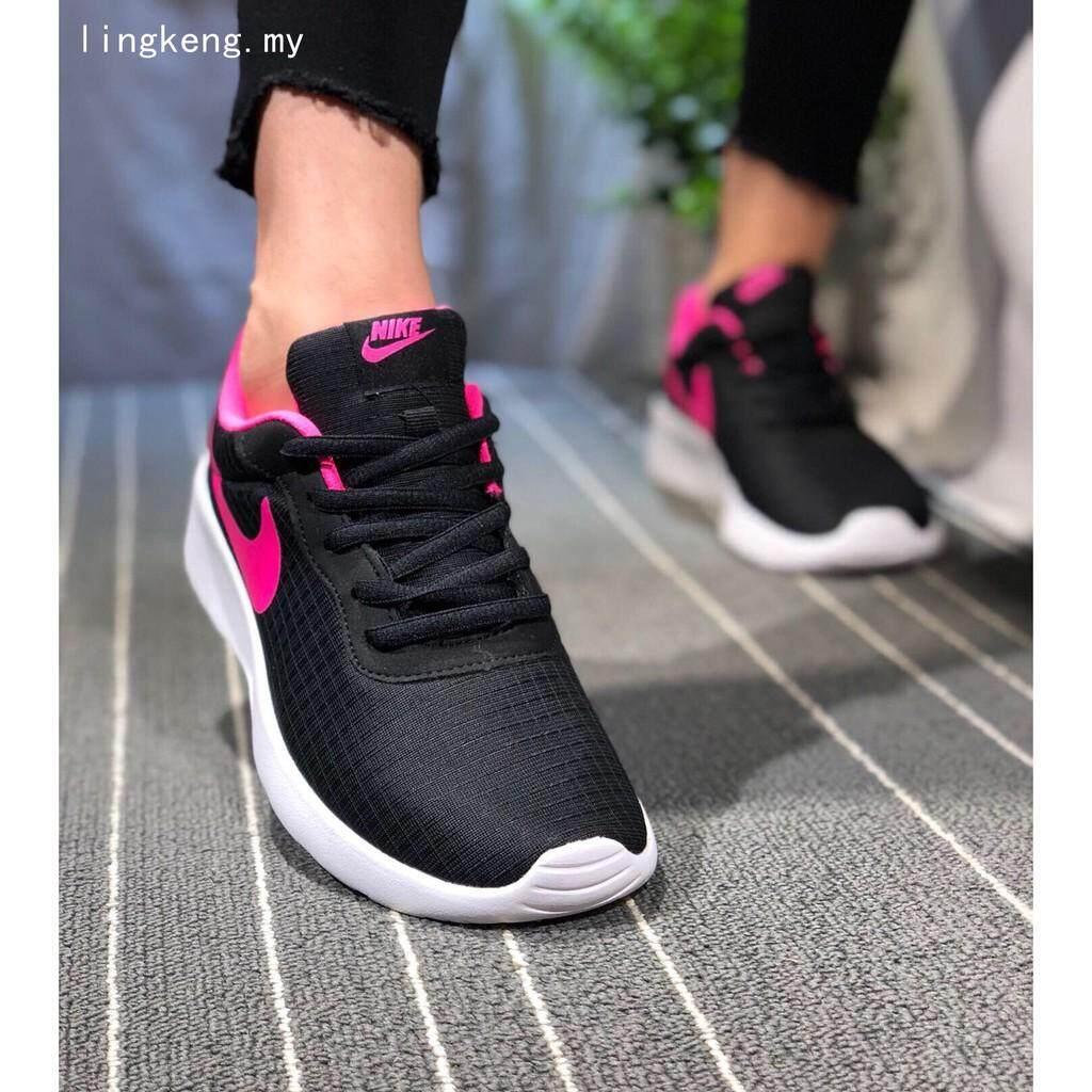 competitive price 8e65a 33fa5 NIKE black pink running shoes ROSHERUN TANJUN Womens walking sports jogger  shoes