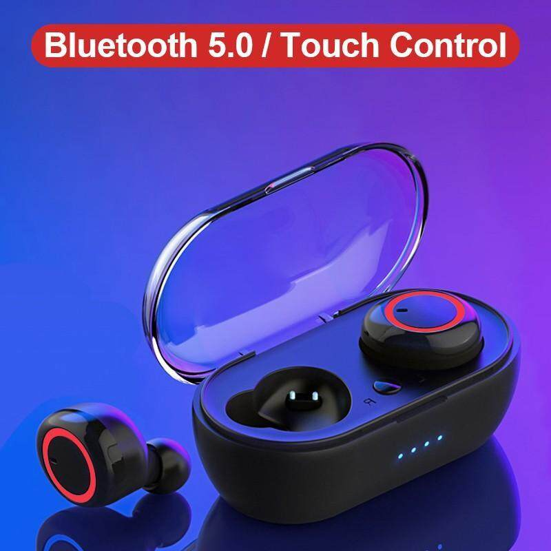 Eshop M2 TWS Touch Control Headset Bluetooth V5.0 + EDR Wireless Earbuds Noise Reduction Earphone Stereo HiFi Sound Music Headphone Handsfree Earphones with Mic with Charging Box Singapore