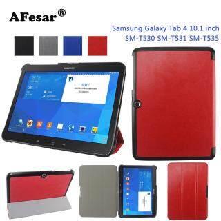 Ốp Lưng Siêu Mỏng 4 Màu Cho Samsung Galaxy Tab 4 10.1 SM-T530 Ốp Lưng Đứng Thông Minh Có Nam Châm Tự Động Ngủ Thức Dậy thumbnail