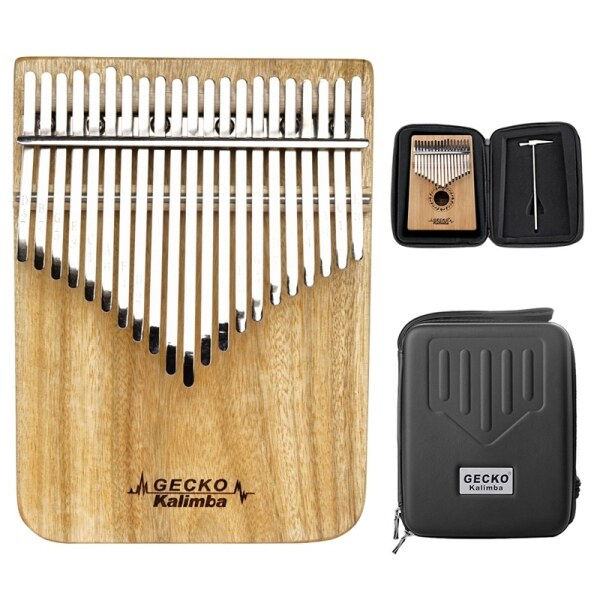 GECKO C Tone Kalimba 21 Keys Thumb Piano with Performance Protection Box, Tuning Hammer K21CP for Kids Adult Gift Malaysia