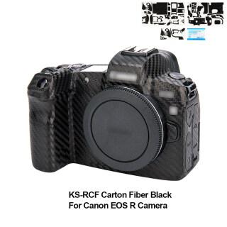 Vỏ bảo vệ họa tiết ma trận chống xước chống trượt cho máy ảnh canon eos r eosr, bằng sợi carbon, màu đen Kiwi thumbnail