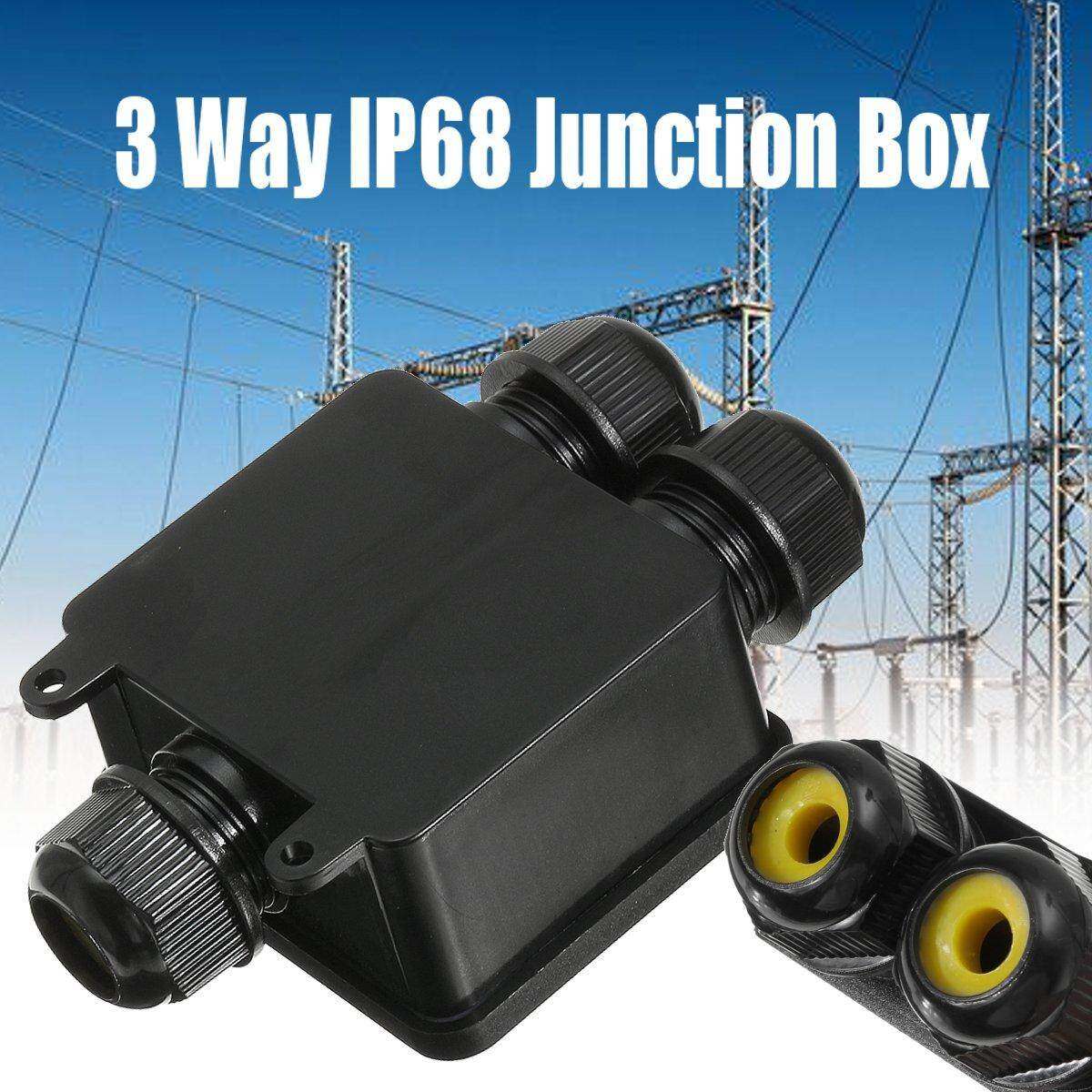 3/4Way Waterproof Electrical Junction Box Cable Connector Wire IP68/IP66 Outdoor #Black