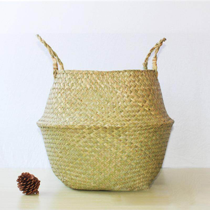 [JYA][CASH ON DELIVERY]【Freeshipping for Any 3 items】 Straw Basket Seaweed Woven Cosmetic Storage Bag Handmade Basket