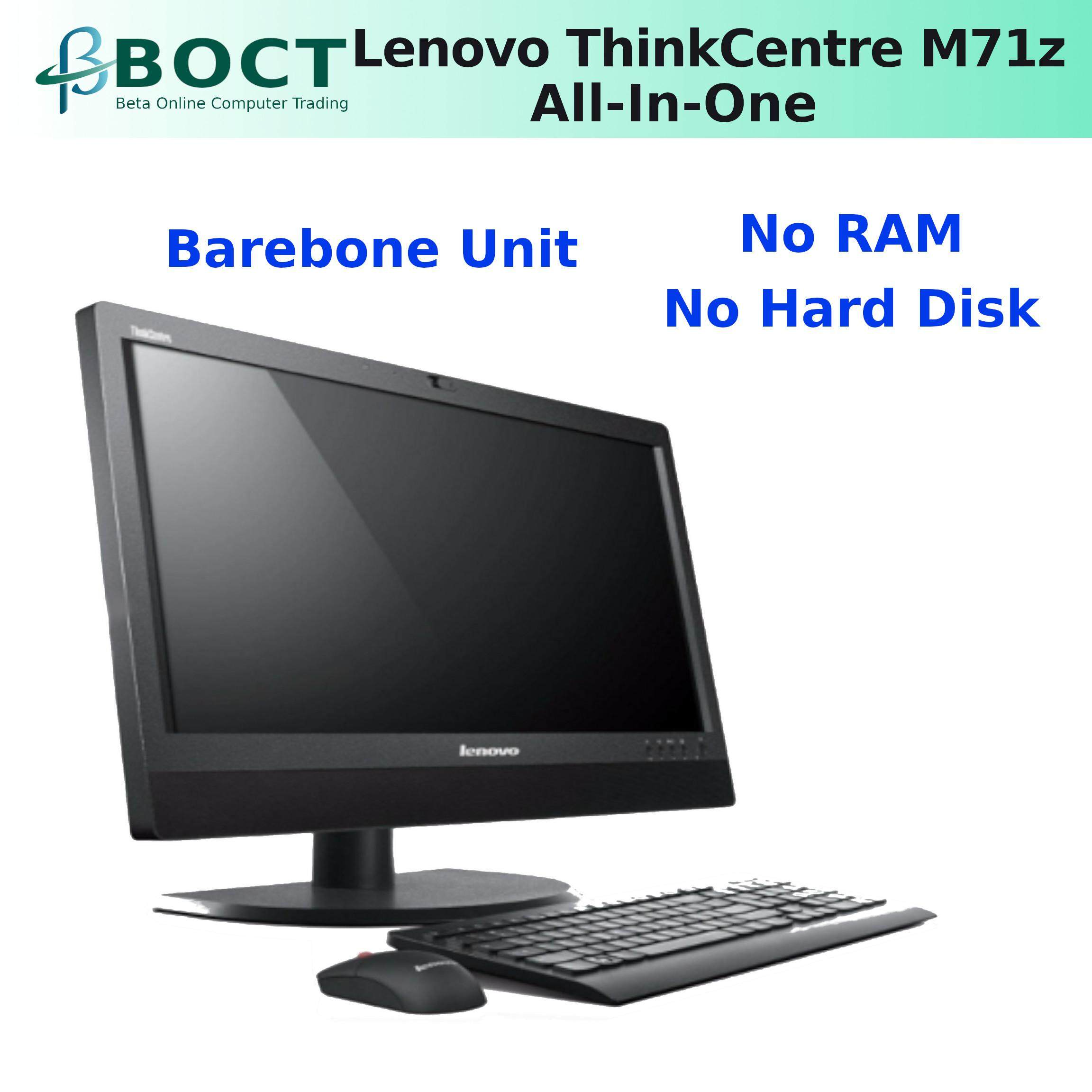 Refurbished Lenovo ThinkCentre M71z All-in-One PC Pentium Dual Core G850  2 9GHz/ 4GB/ 120GB SSD / Win 7 Home