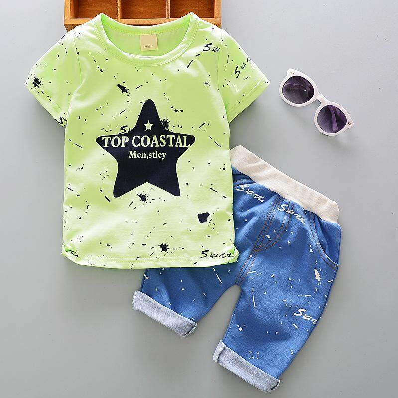 IENENS Summer 2PC Kids Baby Boys Clothes Clothing Sets Infant Boy T-shirt + Pants Outfits Suits Child Tracksuits