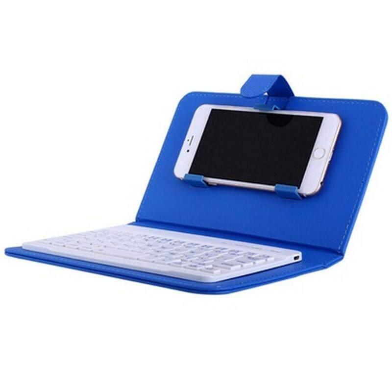 CM Portable PU Kulit Pembungkus Keyboard Nirkabel untuk iPhone dengan Keyboard Bluetooth untuk 4.2-6.8 Inci Ponsel Spesifikasi: Keyboard Bluetooth + Casing Kulit