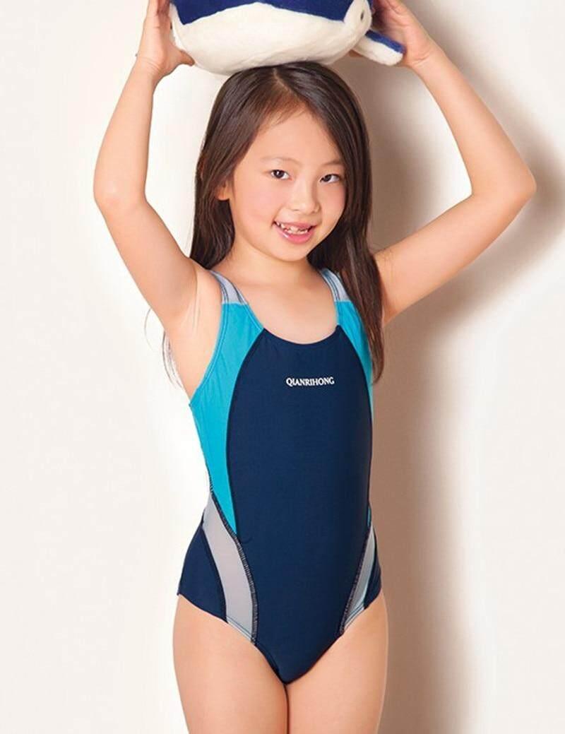 Giá bán 2019 Thể Thao Áo Tắm Infantil Đồ Bơi cho Bé Gái Người Tắm Trẻ Em Một Miếng Đáng Yêu Cô Gái Đồ Bơi