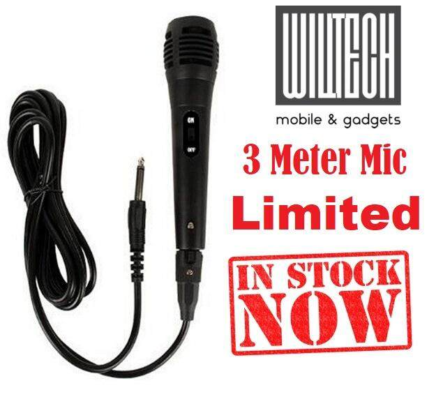 [New Arrival]Dynamic Audio Vocal Microphone Mic With Wired 3m Cable For Karaoke