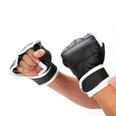 Hở Ngón Luyện Tập Với Bao Cát Găng Tay Đấm Bốc Taekwondo Bảo Vệ