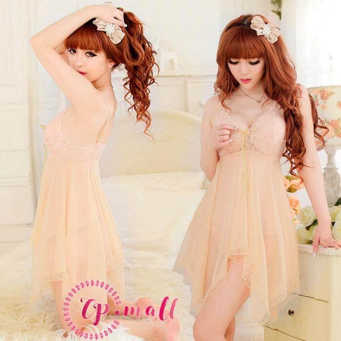 3cfd8525b5c96 CP Mall Women Sexy Lingerie Baju Tidur Nightdress Babydoll Underwear  Sleepwear - 8599 (with 9