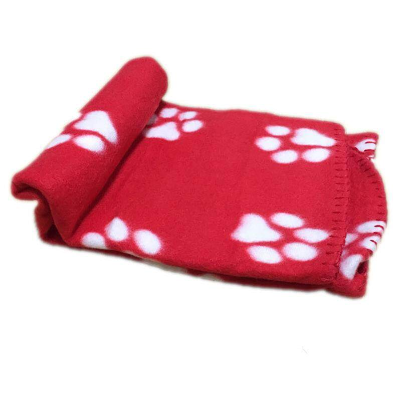 Lovely Pets Mat Soft Warm Fleece Paw Print Design Pet Puppy Dog Cat Mat Blanket Bed Sofa Pet Warm Product Cushion Cover Towel By Dragonlee.