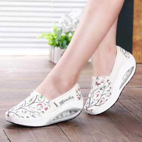 Giày Đế Xuồng DOSREAL, Giày Nữ Đế Bệt Dày Thoáng Khí, Giày Lười Nữ Phong Cách Hàn Quốc Đế Xuồng Giày Vải Nữ giá rẻ