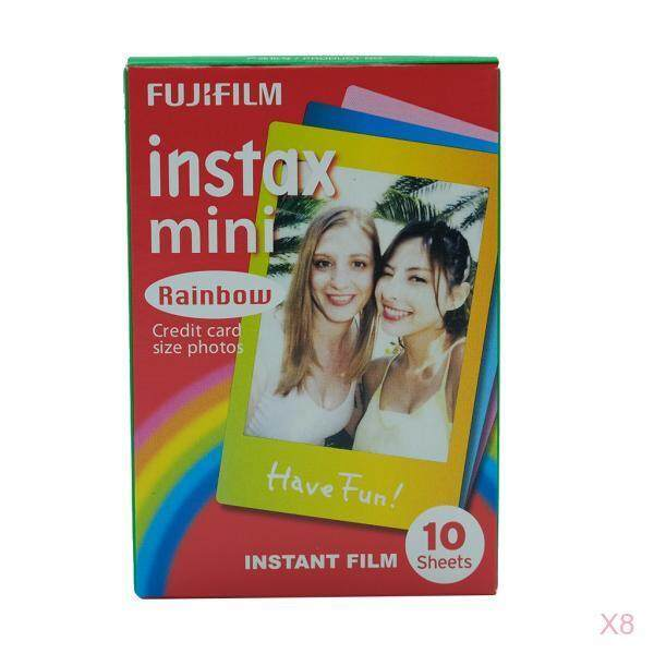 HILABEE 80 Sheets Cartoon Rainbow Edge Film Photo Paper For Fujifilm Instax 7/8/9/10