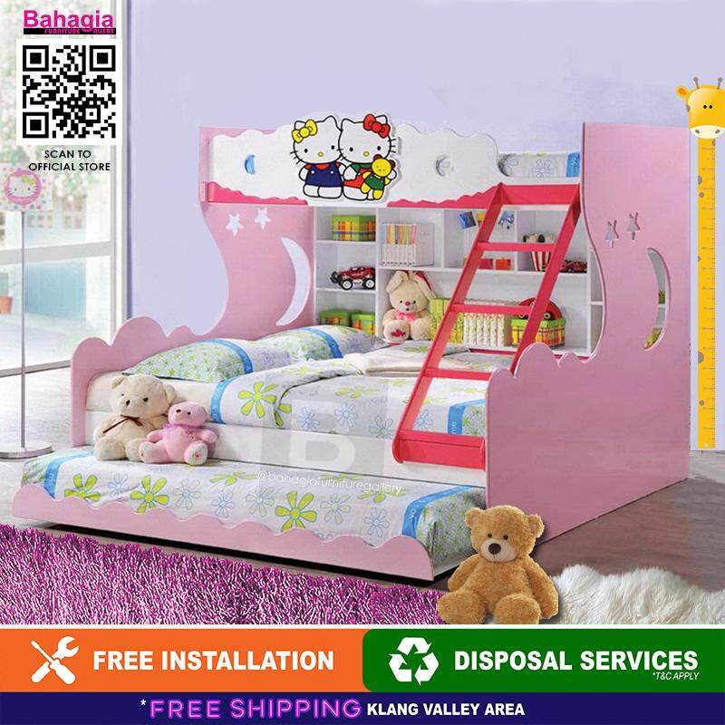 Bahagia Hello Kitty Children Bunk Bed - Queen By Bahagia Furniture Gallery.
