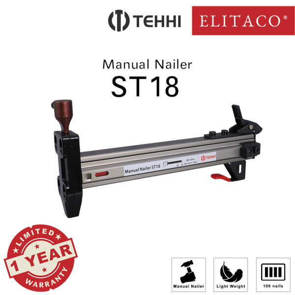 【ELITACO】Tehhi ST18 Wainscoting Concrete Manual Nailer Stapler Metal Cement Pallet Construction