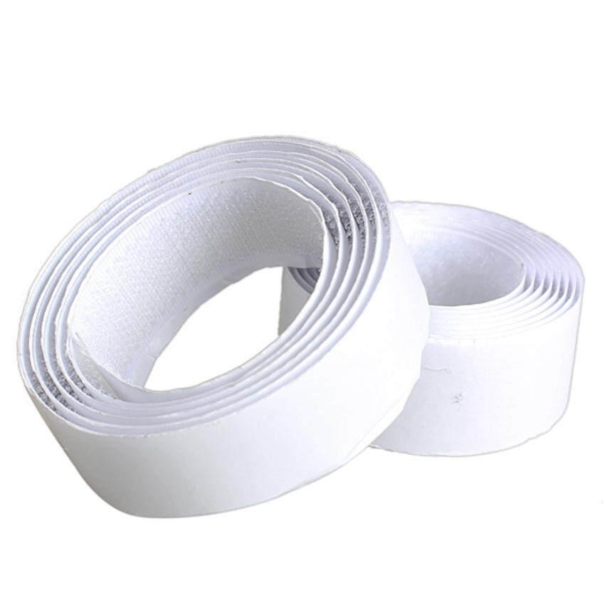 Zhouda 1 Rolls Strong Self Adhesive Velcro Hook Loop Tape Fastener 1m (White)
