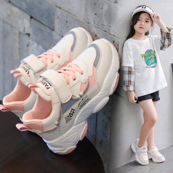 Giá bán Giày Bé Gái Phiên Bản Hàn Quốc 2020 Thu Đông Thời Trang Mới Giày Thể Thao Cũ Giày Lưới Trẻ Em Màu Đỏ