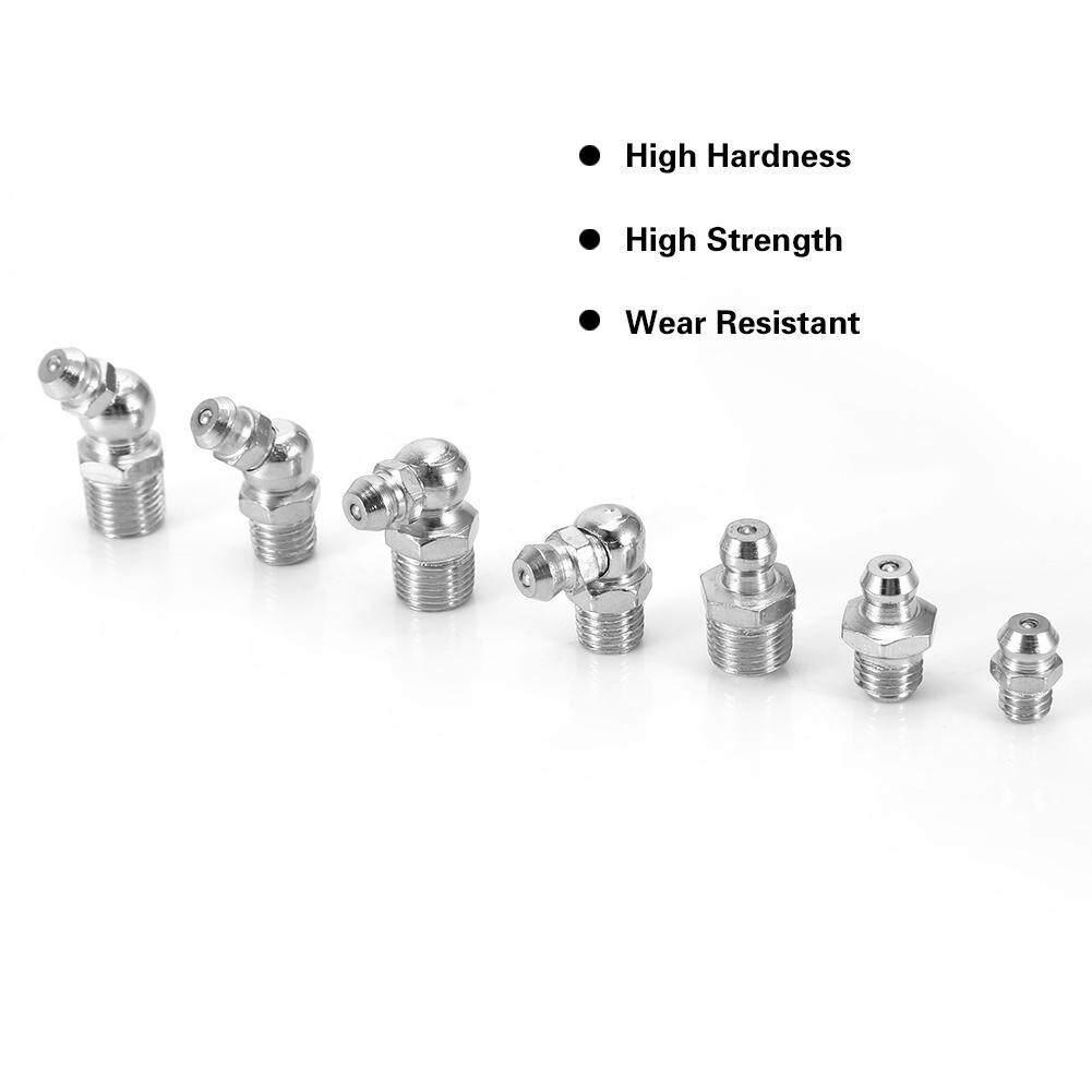 【Promotions】45Pcs M6/M8/M10 Durable Metal Brass Zerk Grease Nipple Fitting Assortment Kits