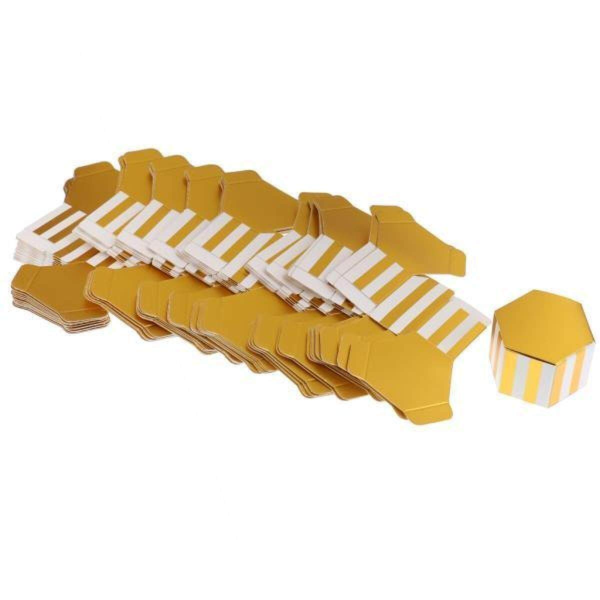 50 Pieces Gilding Chocolate Candy Boxes Gift Boxes Wedding Favors Strips