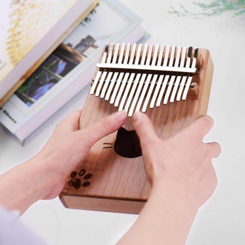 Walter.t WK-17MS Portable 17-key Kalimba Thumb Piano Mbira Maple Wood with Carry Bag Tuning Hammer Cleaning Cloth Stickers Musical Gift Malaysia