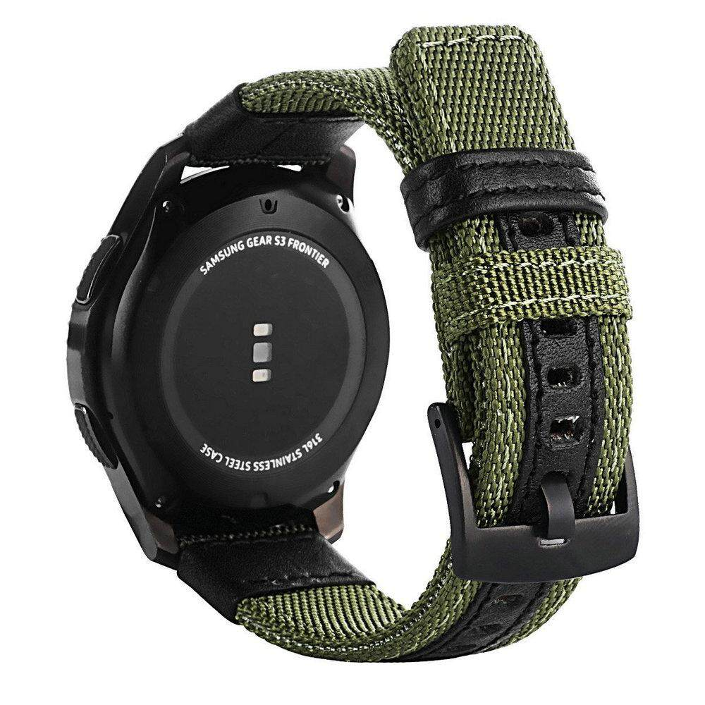 For Samsung Gear S3 Frontier / Classic Watch nylon Fabric Band 22mm Universal Strap Quick Release Spring Pins Replacement Straps Malaysia