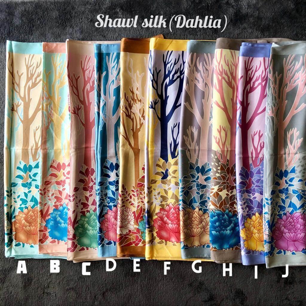 Shawl Silk Dahlia By Scarfladyshop.