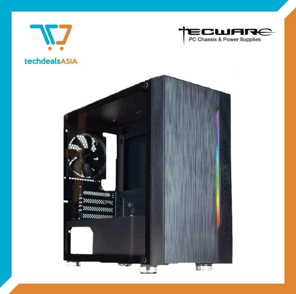 TECWARE M3 TG MATX TEMPERED GLASS GAMING CASE (WITH RAINBOW LED AT FRONT) [ATX, Matx, Mini-ITX] Malaysia