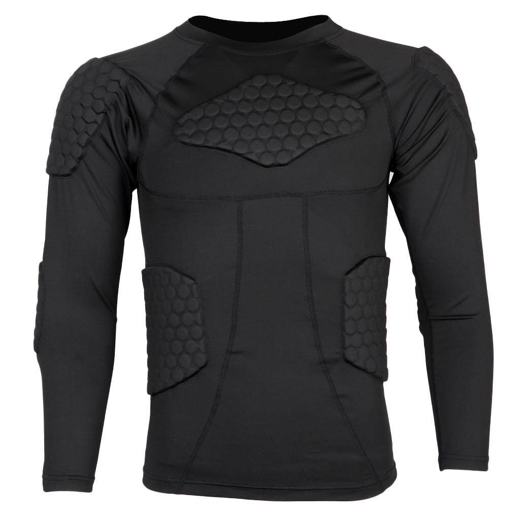 Youth Compression T-Shirt Sports Fitness Strong Elastic Padded Tight Shirt