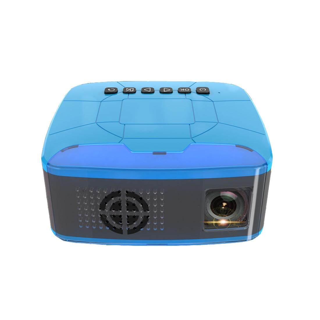 U20 500ANSI Lumens 1080P LCD Technology Mini Portable HD Theater Projector, Support TF, HDMI, AV, USB(Blue)