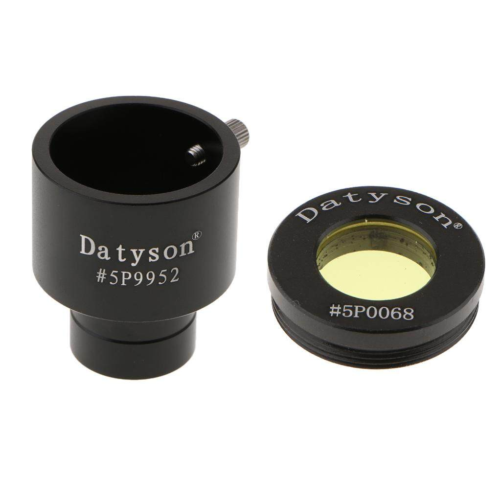 Miracle Shining 0.965 To 1.25 Telescope Eyepiece Adapter -24.5mm To 31.7mm + Yellow Filter By Miracle Shining.