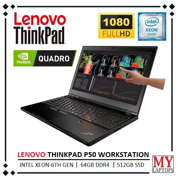 LENOVO THINKPAD P50 SUPER WORKSTATION [ INTEL XEON / 64GB DDR4 / 512GB PCIe SSD] NVIDIA QUADRO M2000 / WINDOWS 10 PRO ORIGINAL / 1 YEAR WARRANTY Malaysia