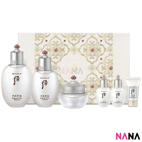 Buy The History Of Whoo Gongjinhyang Seol Radiant White Set 6 items Singapore