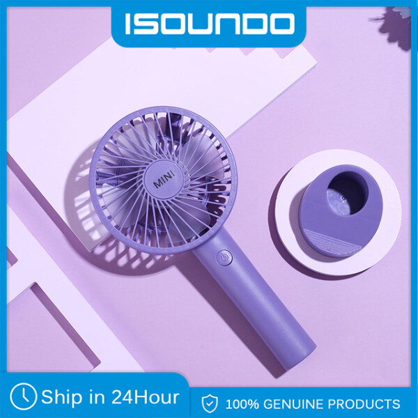Bảng giá ISOUNDO Mini Handheld Fan Portable Usb Rechargeable Cooling Desktop with Base Mobile phone bracket 3 Modes for Travel Outdoor Phong Vũ