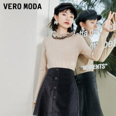 Vero Moda Áo Len Dệt Kim Dài Tay Cổ Điển Cho Nữ 321424019