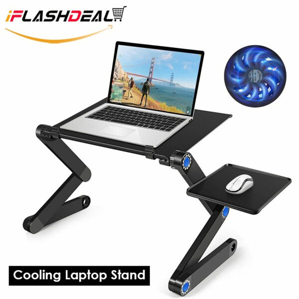 【Promotion-Lowest Price】iFlashDeal Laptop Stand Cooling Portable Detachable Adjustable Foldable Holder 360° Rotating Laptop Cooling Pad Bracket for Laptop, iPad, Tablet 15.6 inches Malaysia