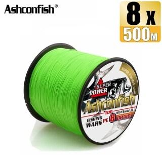 Đèn 500M Ashconfish 8 Sợi Dây Câu Nhiều Sợi Bện Màu Xanh Lá Cây Phụ Kiện Câu Cá Cỡ X8 6-300LB Dụng Cụ Giải Quyết thumbnail