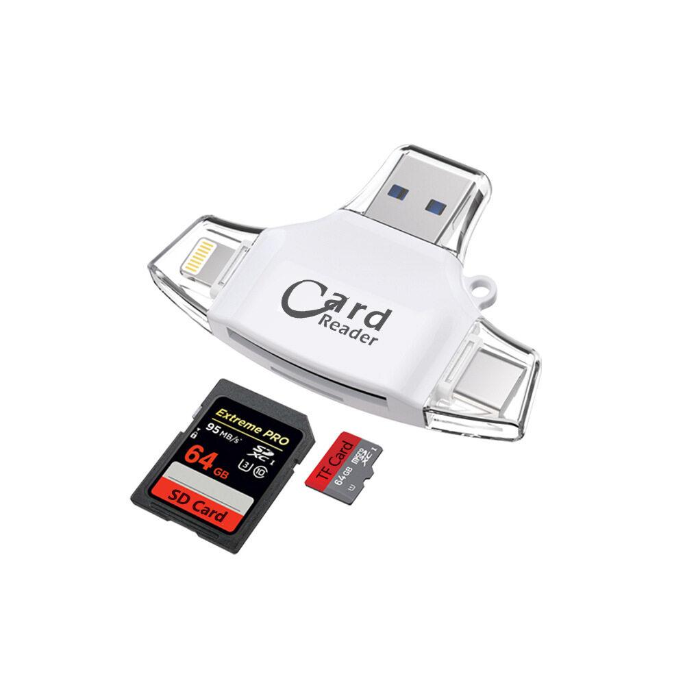 Giá 【Cod & Giá Rẻ Ship】type C Đầu Đọc Thẻ Micro SD Tipo C OTG USB C RS MMC Nhớ IDragon Cho iPhone iPad Macbook Adapter 4in1 SD [CNY2020]]