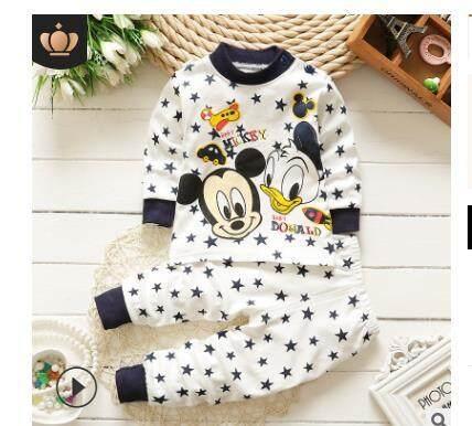 Pyjamas Cotton Mickey Donald Longsleeve By Marissabeutystore.